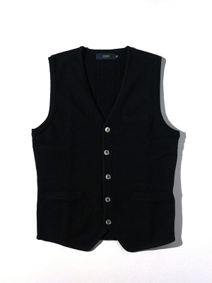 Jrium Merino Wool Knitted Vest - Black