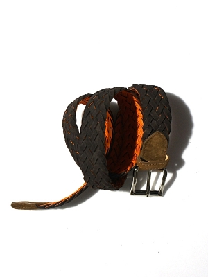D gusto Suede Belt - Brown Suede