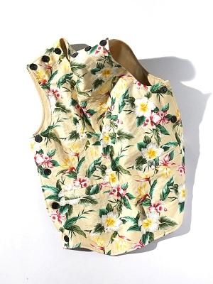 synopsis Reversible Vest - Flower Beige