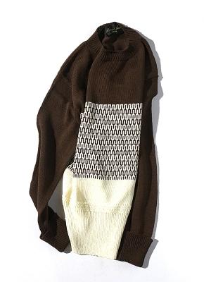 Haversack Attire 5G Border knit - Brown