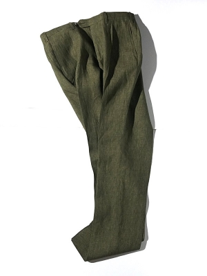 Germano 344 4735 Linen Slacks - Green