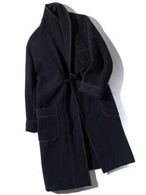 East Harbour Surplus Oldeen Shawl Collar Coat - Navy