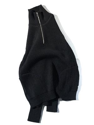 Andersen-Andersen Half Zip - Black