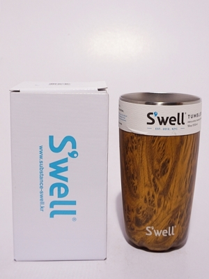 Swell Bottle Tumbler Collection 18oz   - Teak Wood