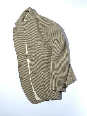 Eastlogue 4 Pockets Jacket - Beige Seersucker