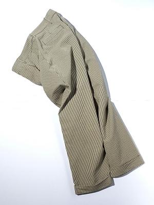 Eastlogue Crop Pants - Beige Seersucker