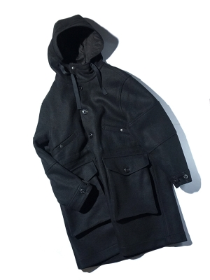 Eastlogue Ecw Parka - Black Heavy Melton