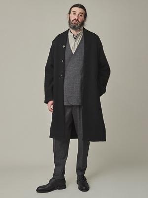 Yashiki Botayuki Knit Coat -Black